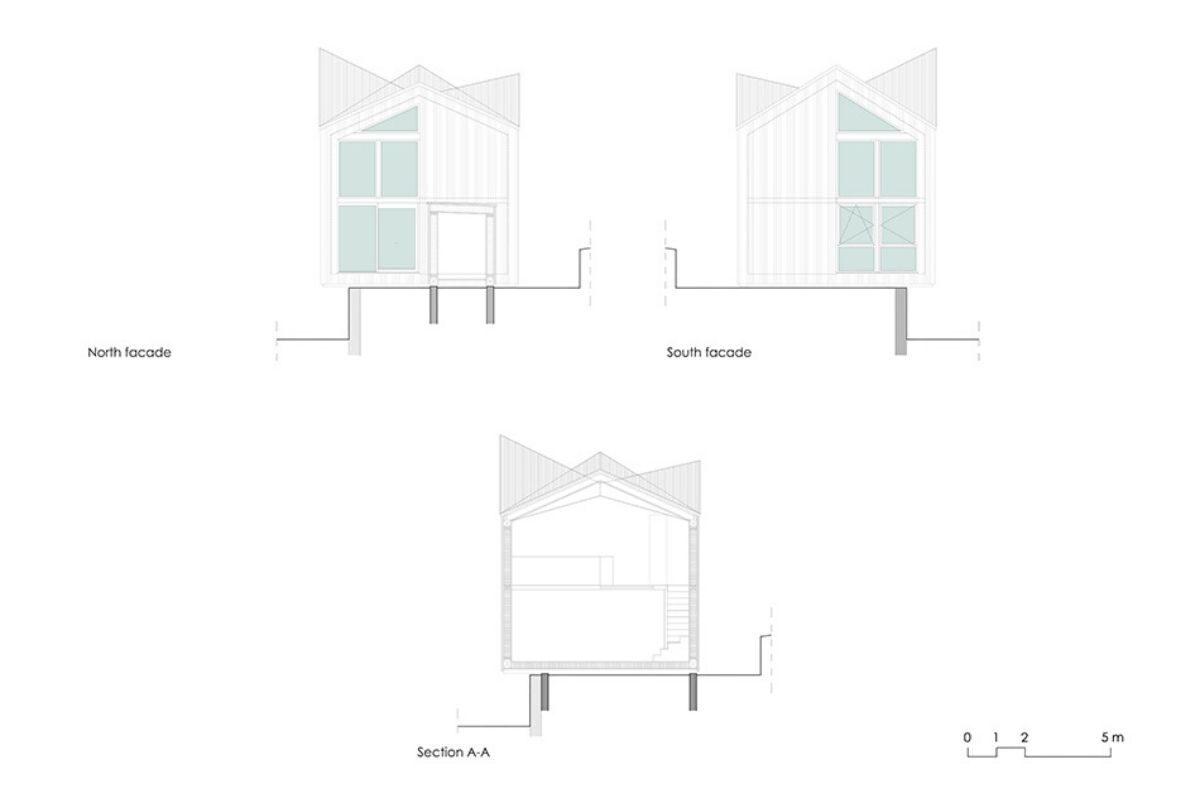 casa de madeira pequena madeiras claras foto 7