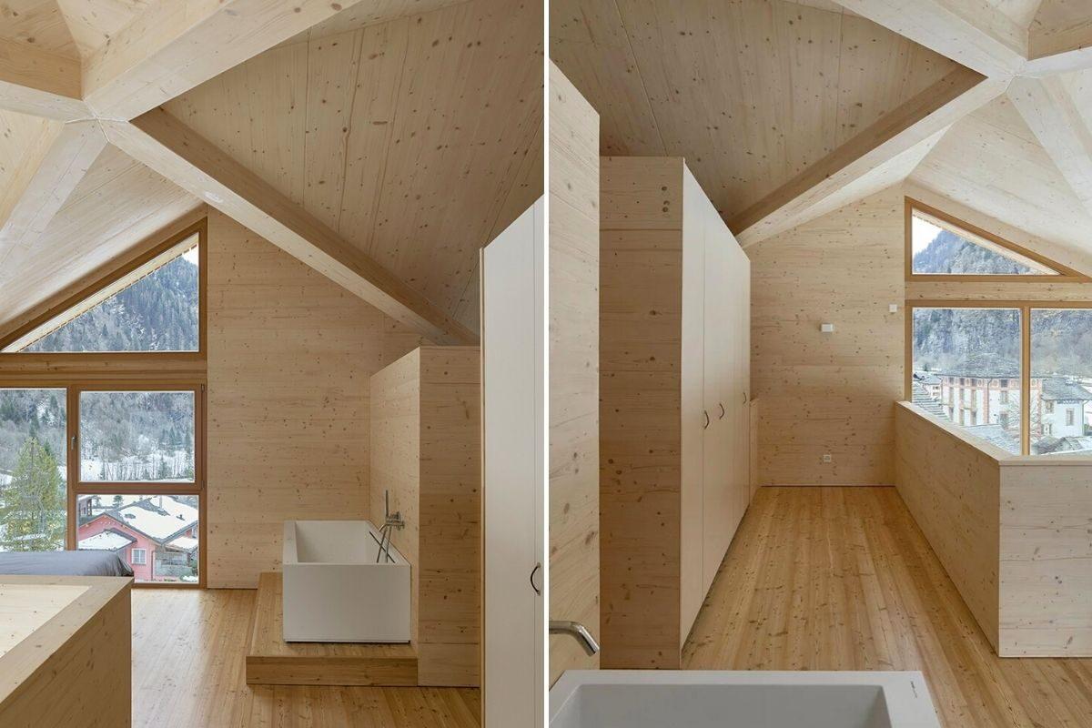 casa de madeira pequena madeiras claras foto 9