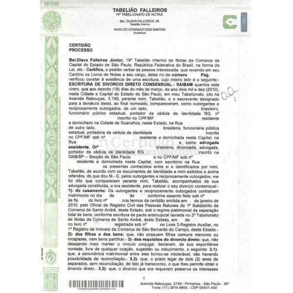 documento de escritura do imóvel