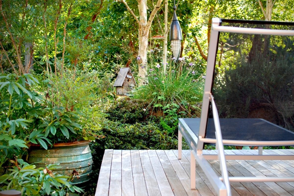 jardim com deck