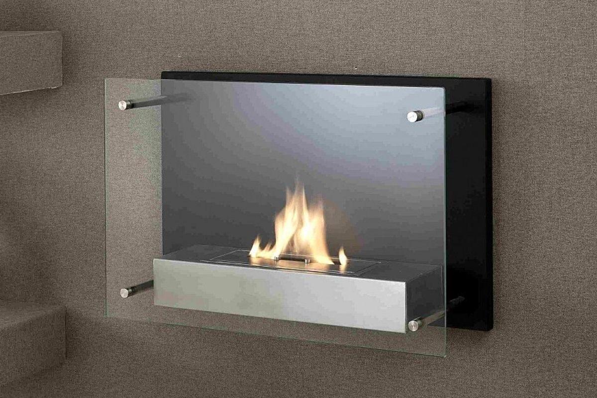 lareira ecológica minimalista com vidro