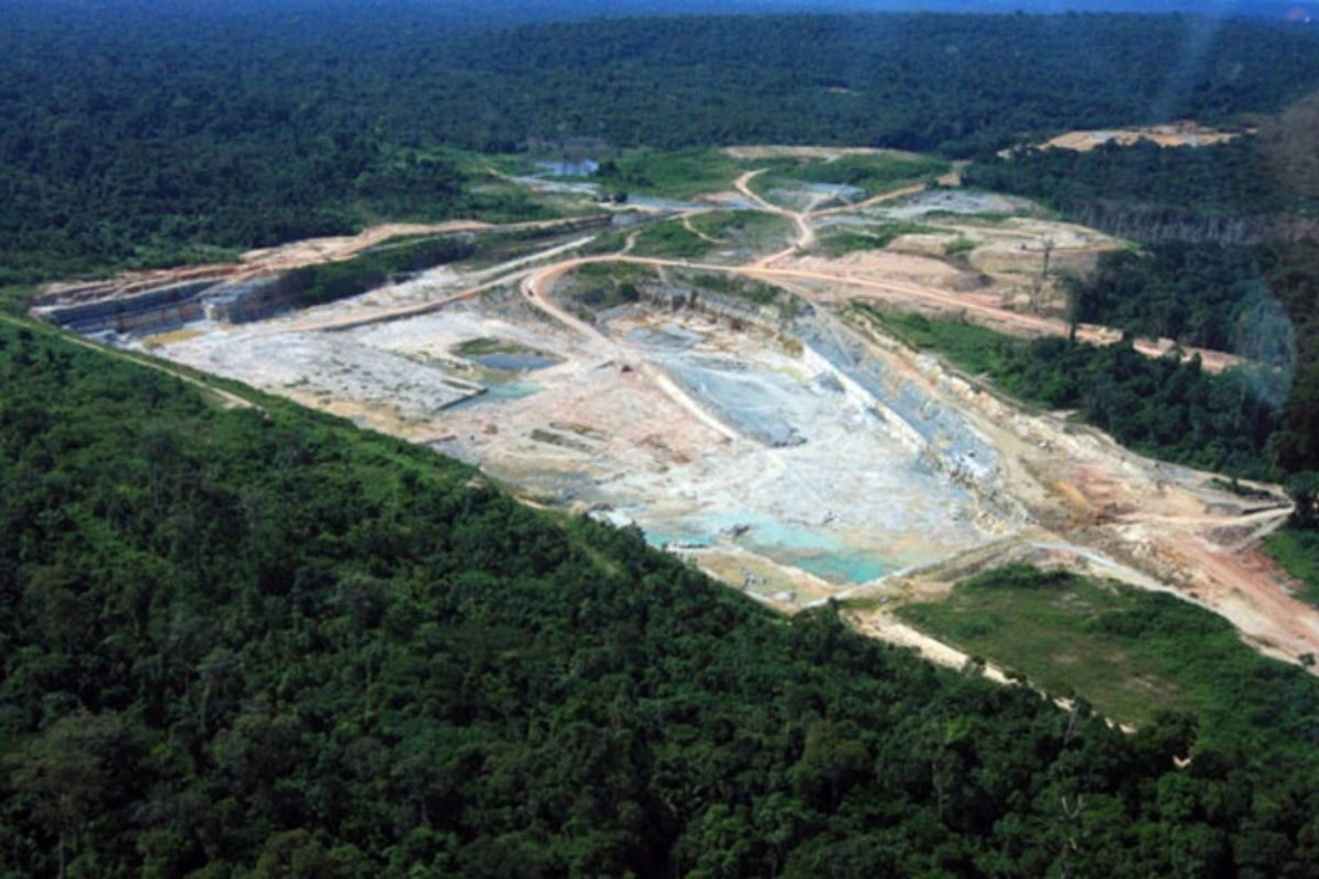 mina de calcário desmatamento amazonia
