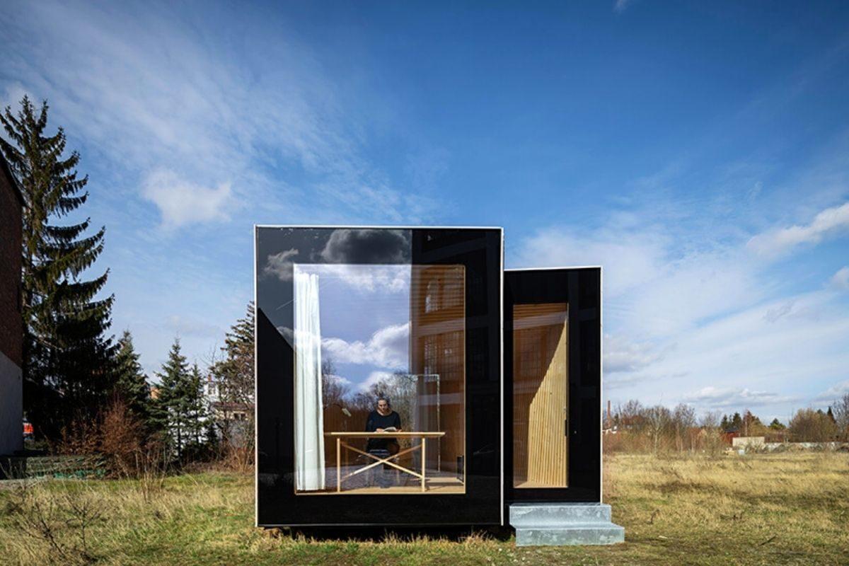 mini casa de madeira sanfonada foto 3