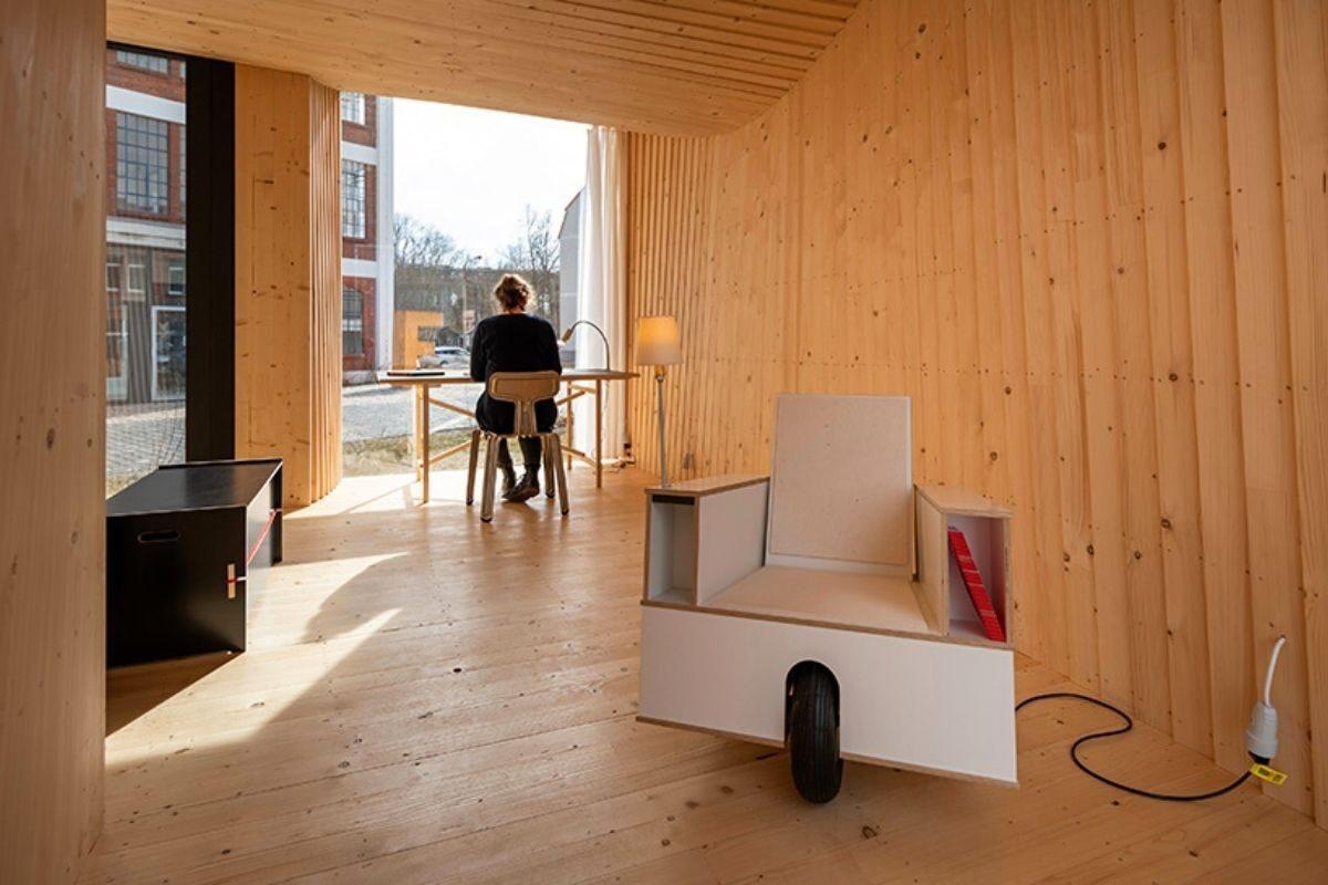 mini casa de madeira sanfonada foto 7