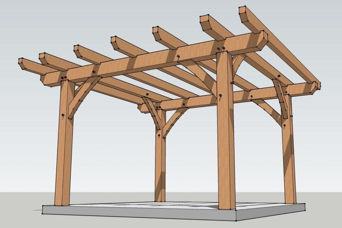 pergolado de madeira projeto