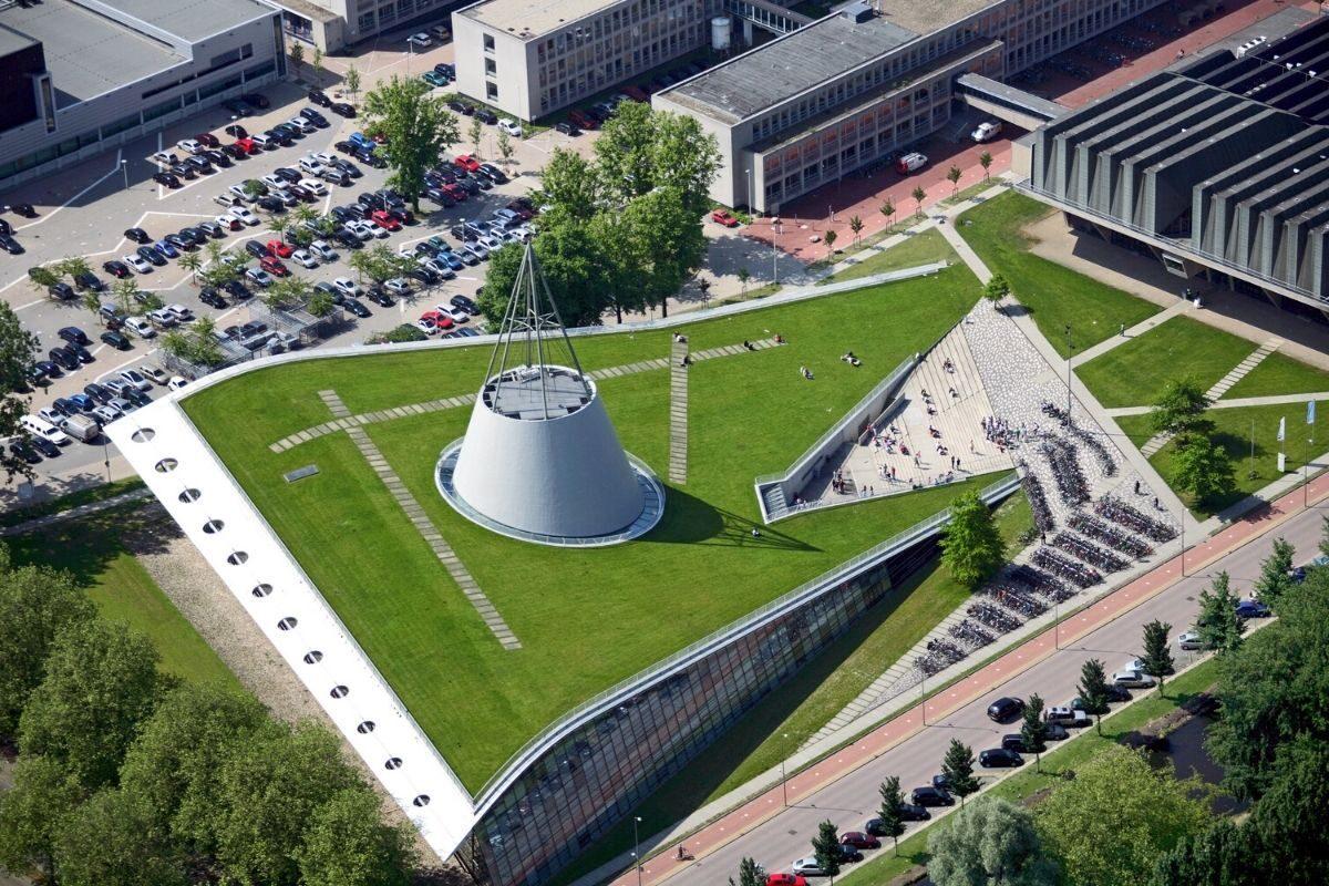 telhado verde da delft university of technology