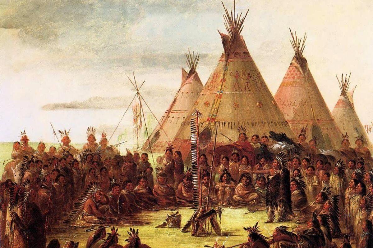 tenda teepee pintura histórica george catlin
