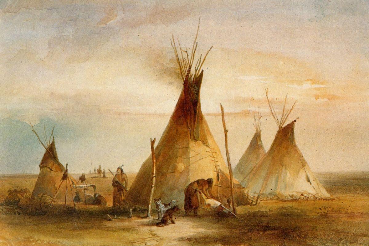 tenda teepee pintura histórica karl bodmer