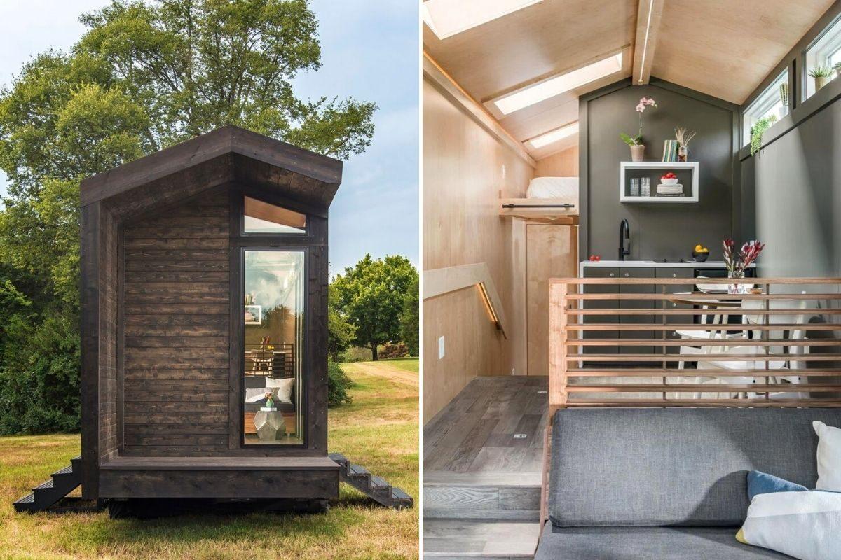 tiny house de madeira inspirada casas de campo foto 10
