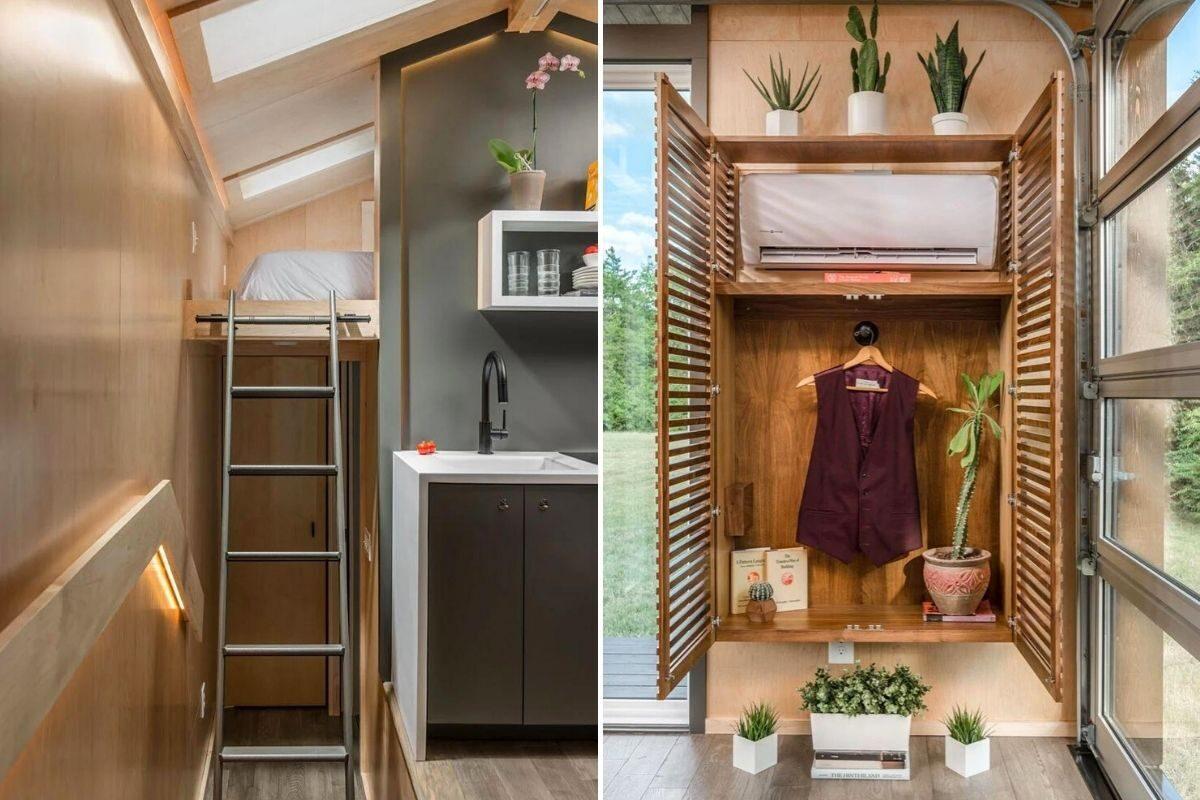 tiny house de madeira inspirada casas de campo foto 11