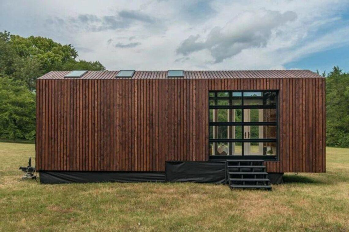 tiny house de madeira inspirada casas de campo foto 8