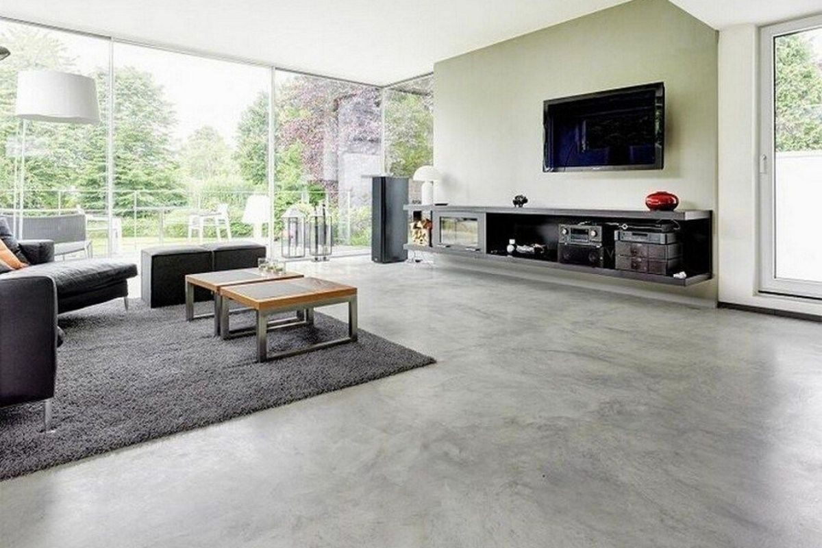 tipo de piso de cimento queimado