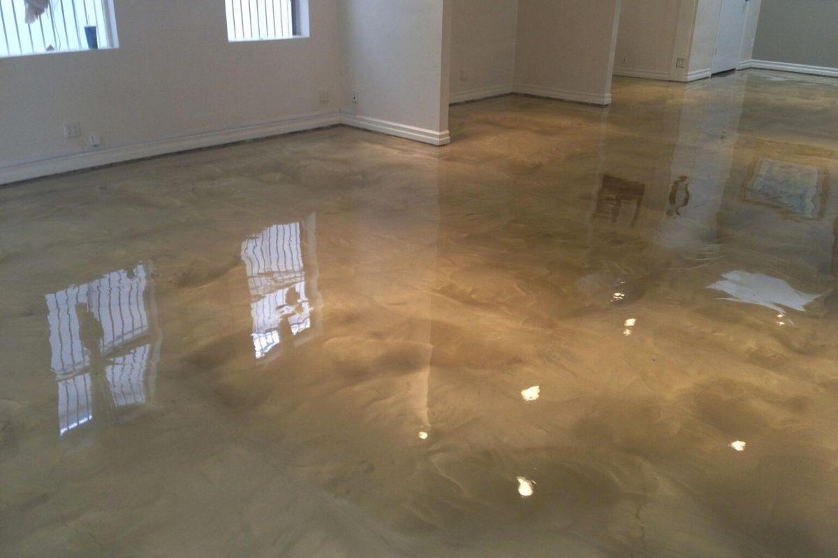tipo de piso de resina epóxi