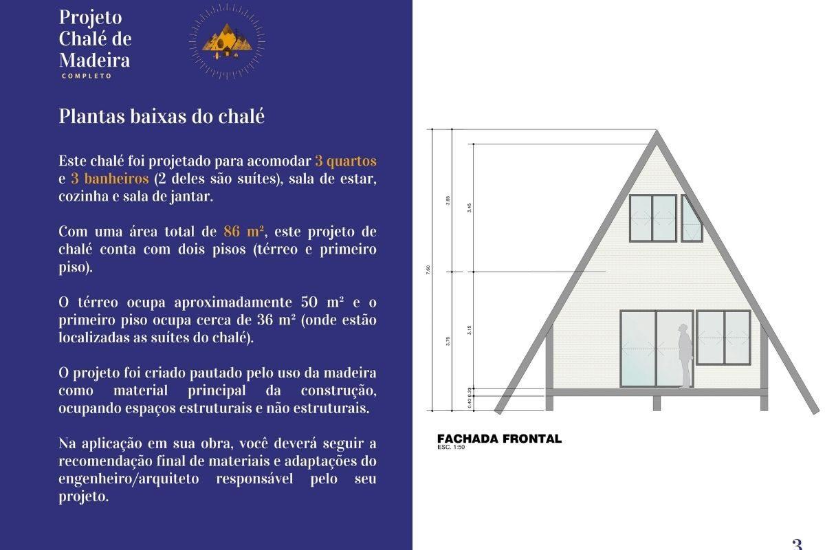 BÔNUS_ Chalé de Madeira com 86 m² - DE GRAÇA!