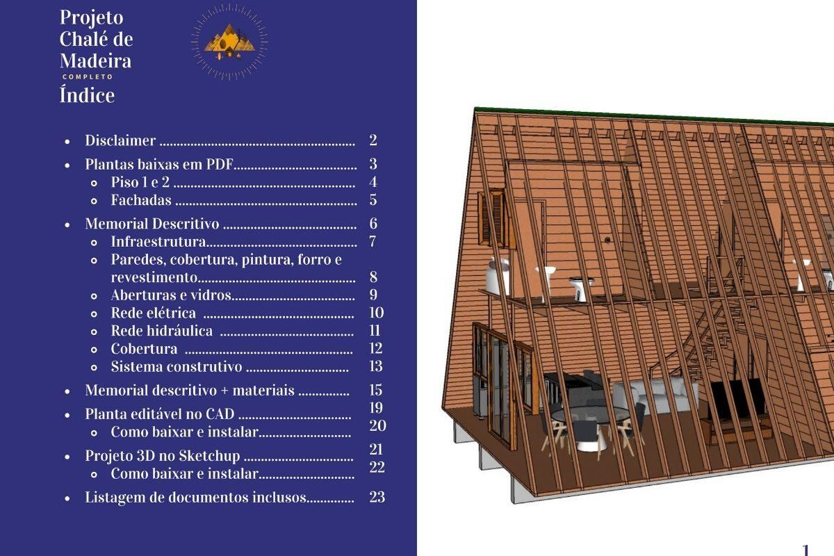 BÔNUS_ Chalé de Madeira com 86 m² - DE GRAÇA! (2)