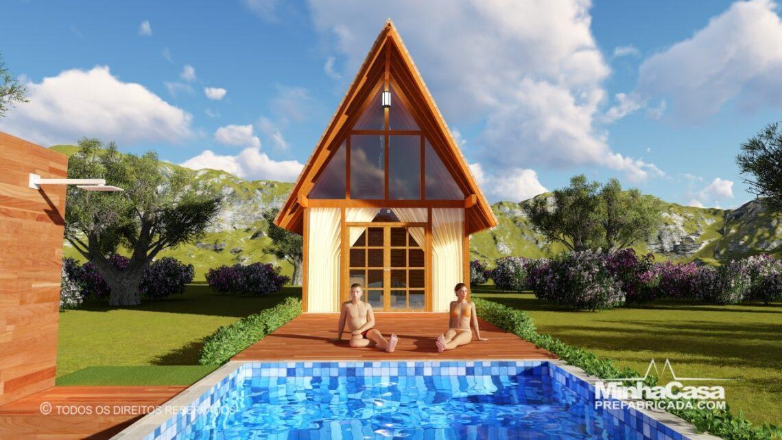 Casa de madeira Modelo rio das ostras 99,90M² 1