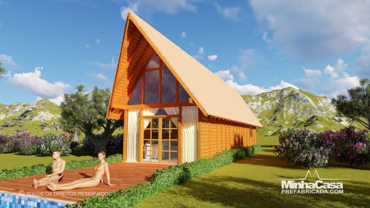 Casa de madeira Modelo rio das ostras 99,90M² 2