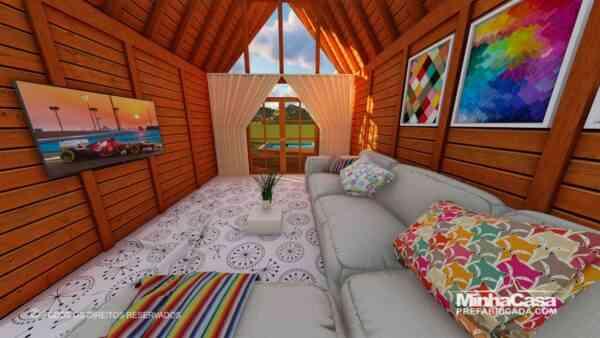 Casa de madeira Modelo rio das ostras 99,90M² 8