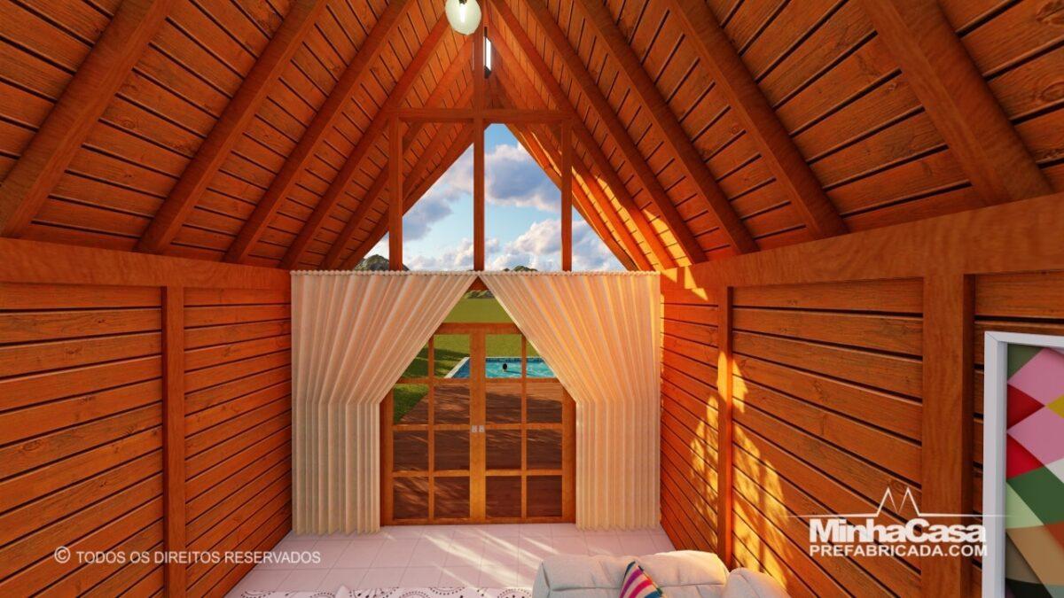 Casa de madeira Modelo rio das ostras 99,90M² 9