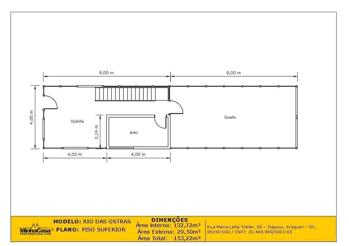 Casa de madeira Modelo rio das ostras 99,90M²11
