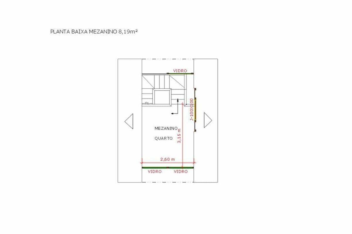Chalé de Madeira Pousada Pop 1.3, de 32 m² foto 7