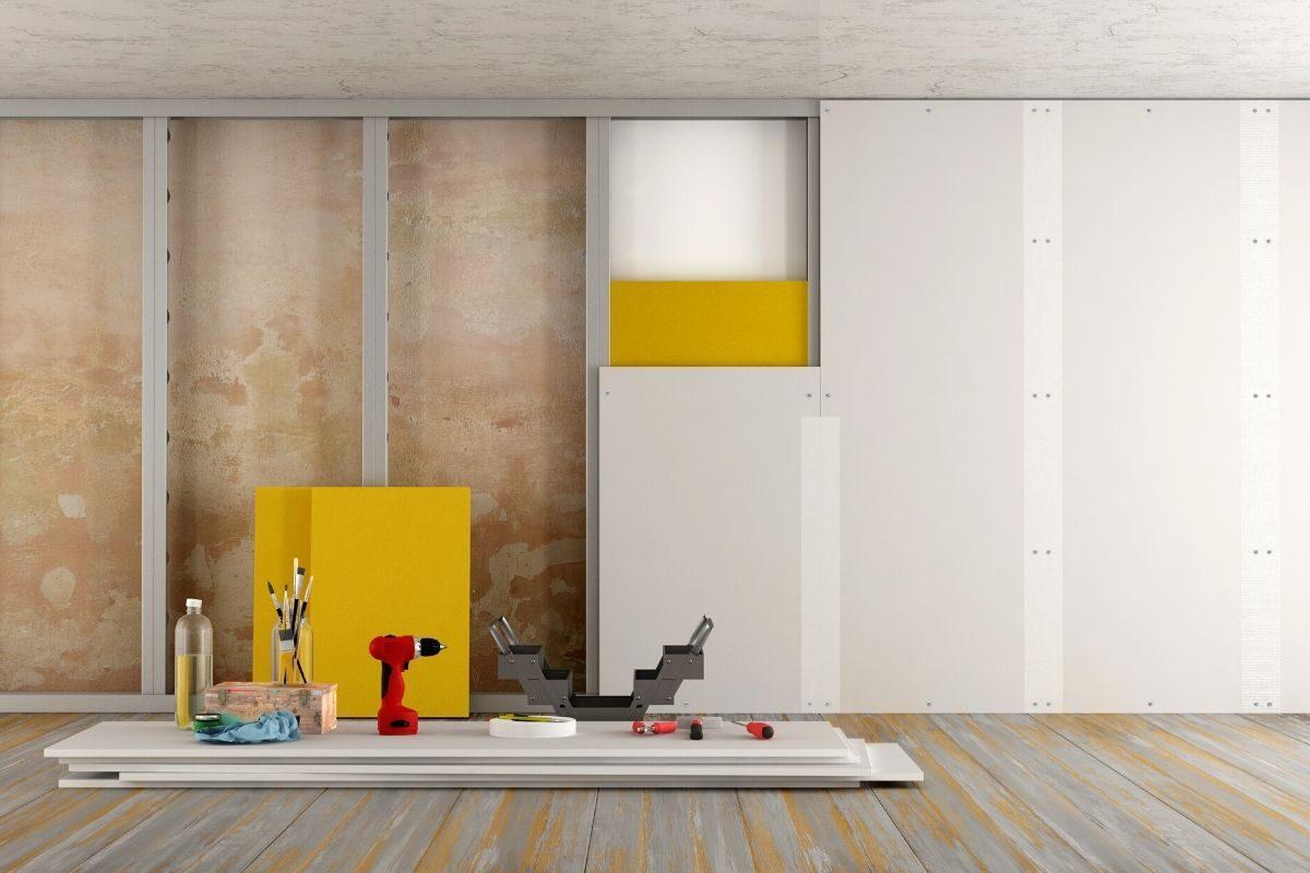 Como construir uma parede de gesso_drywall