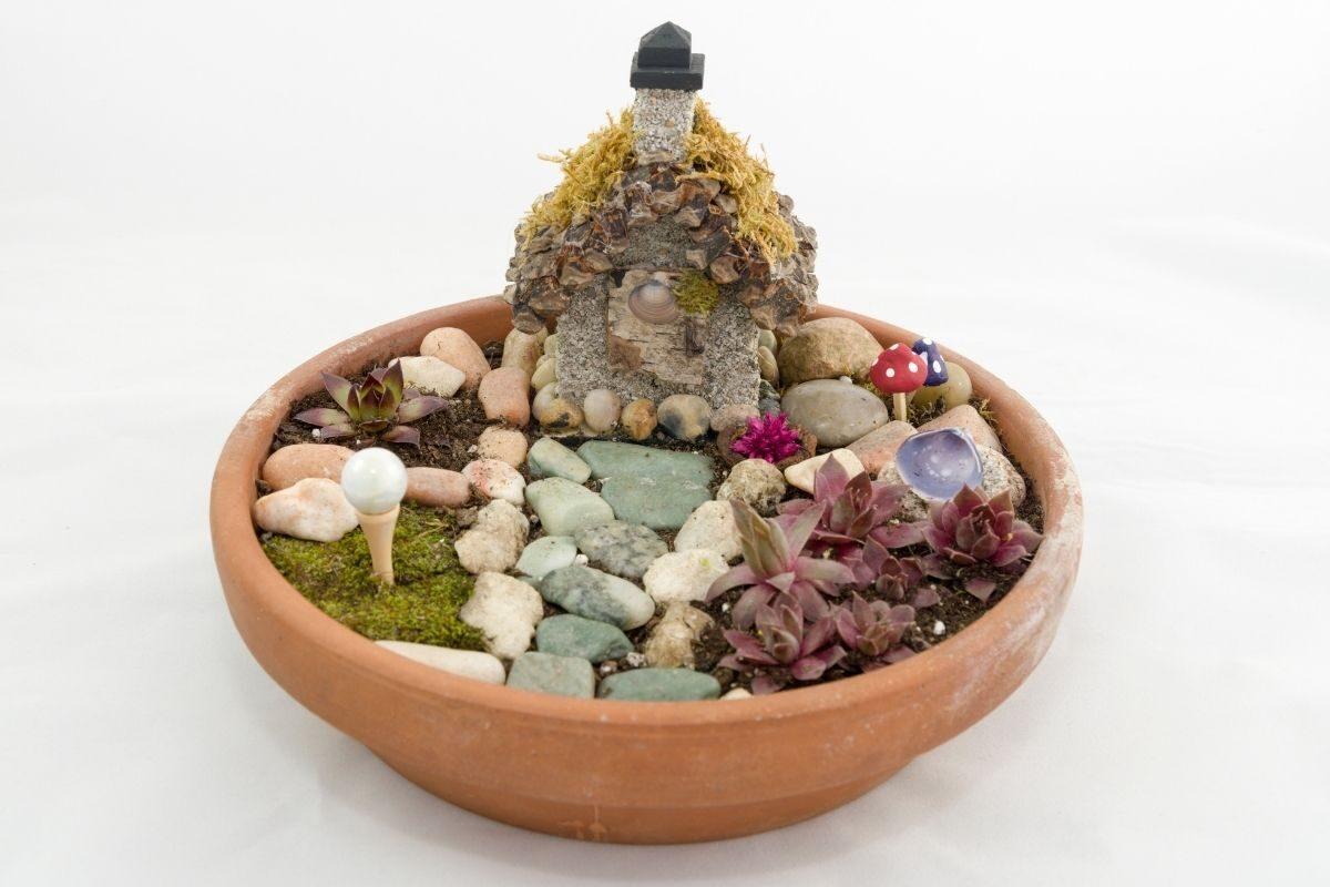 Jardim de fadas pequeno