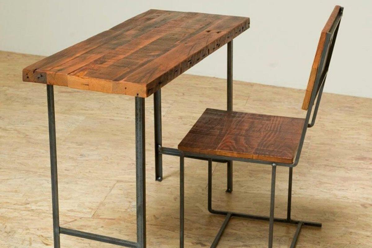 Mesas de madeira rústica compactas 4