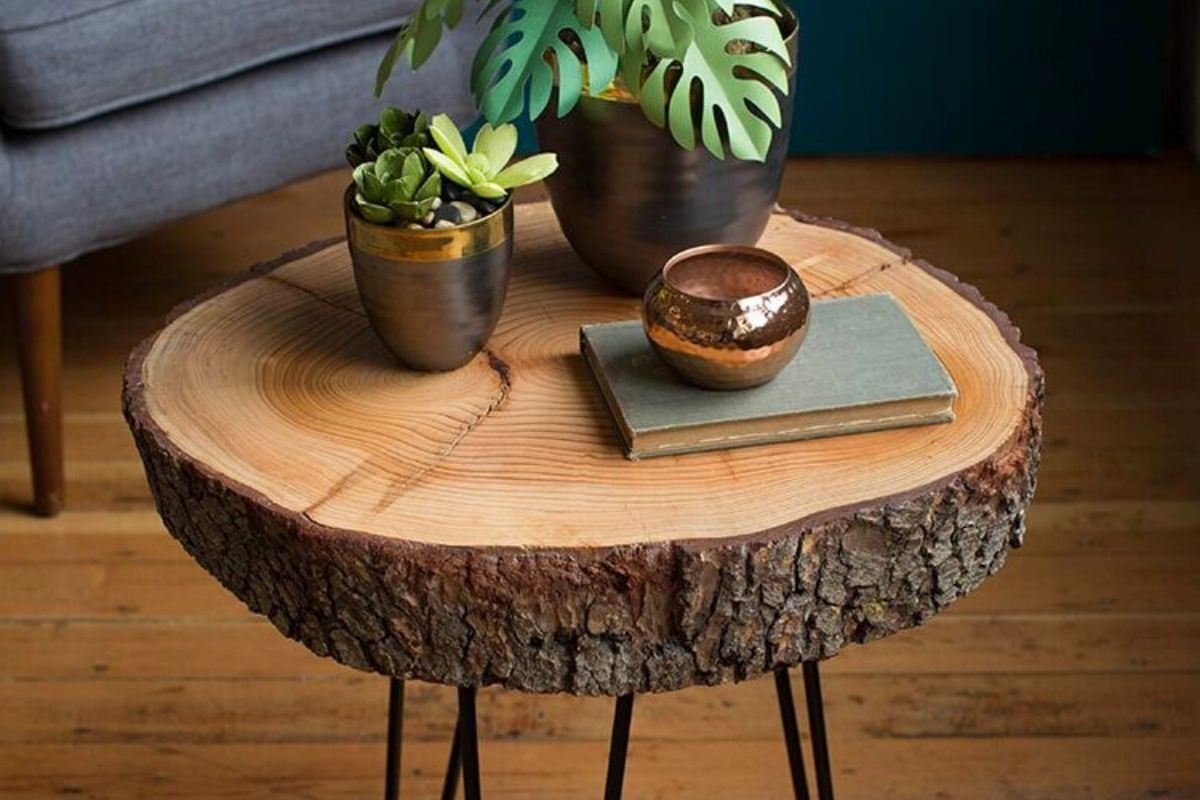 Mesas de madeira rústica criativas 1