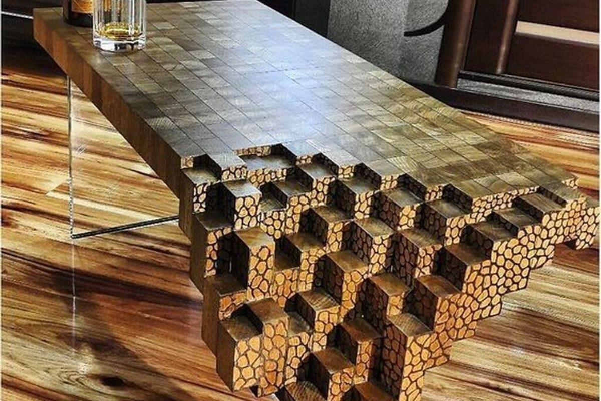 Mesas de madeira rústica criativas 2
