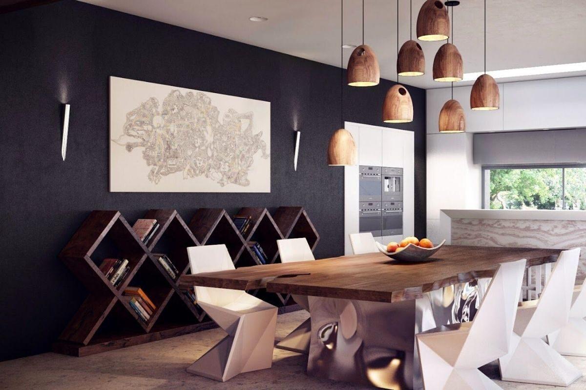 Mesas de madeira rústicas em ambientes modernos