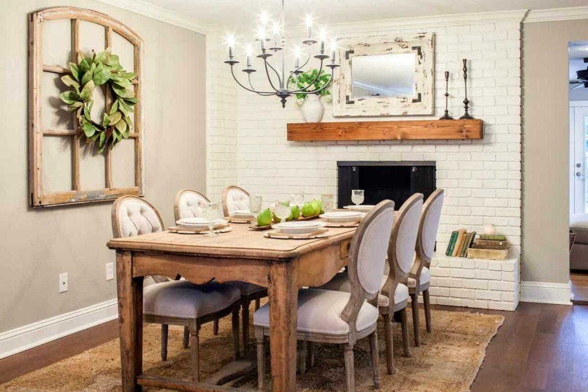 Mesas de madeira rústicas em ambientes retrô_vintage