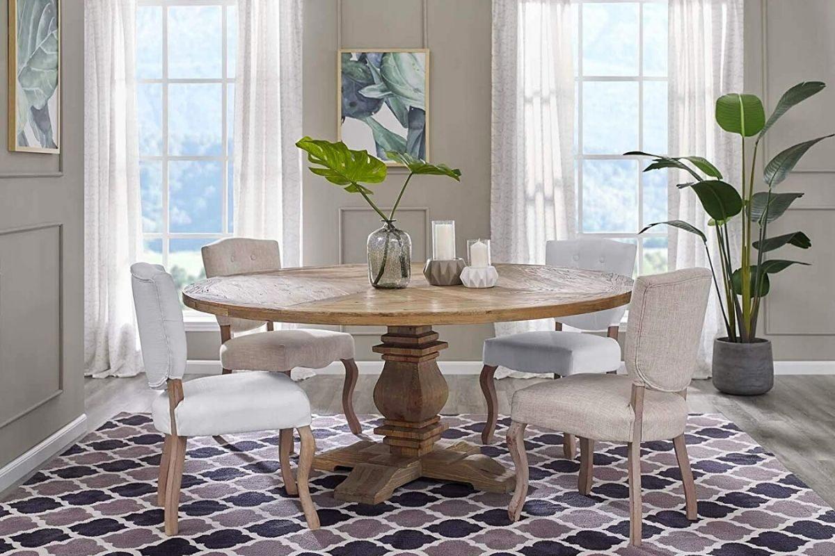 Mesas de madeira rústicas redondas 1