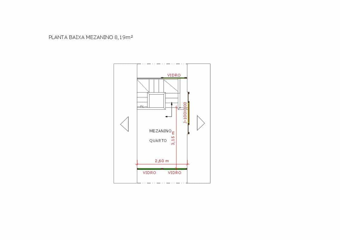 Modelo Pousada Pop 1.3 de 32,19M² planta 2