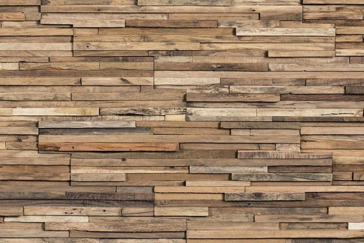 Revestimento com madeira filetada