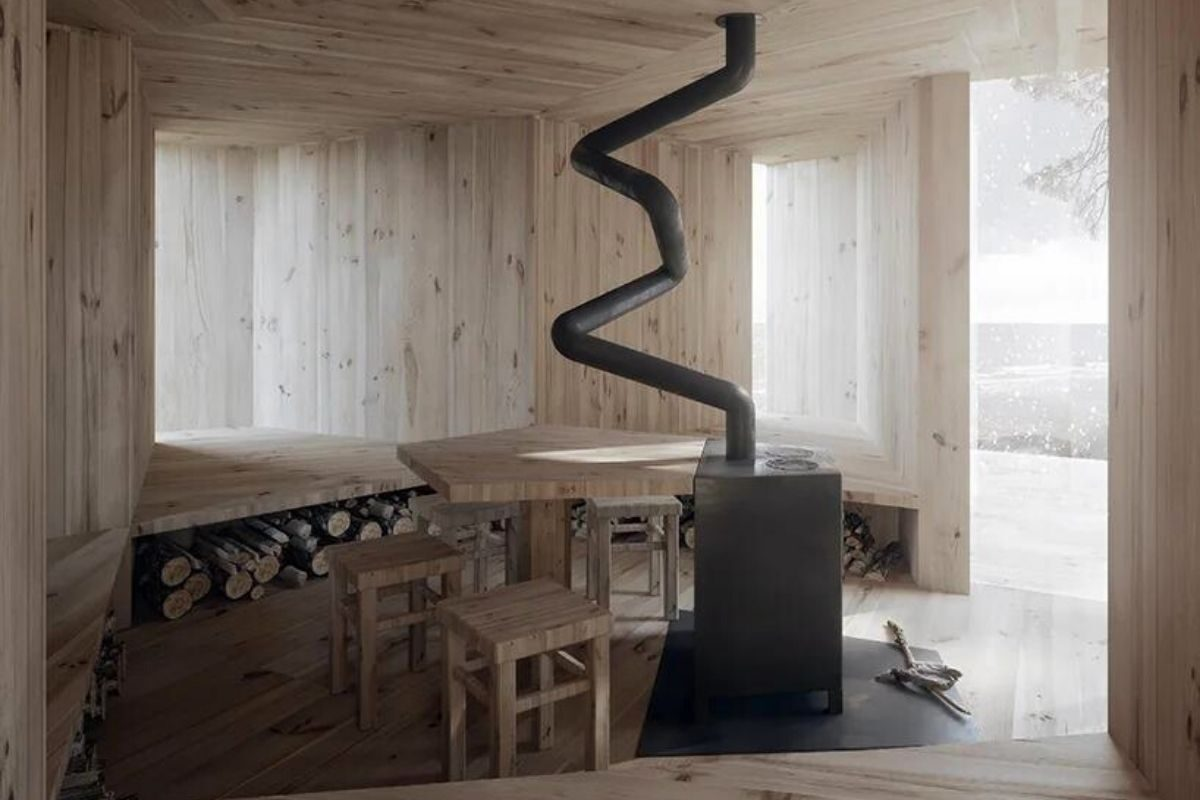 cabana de madeira estrela do mar foto 3