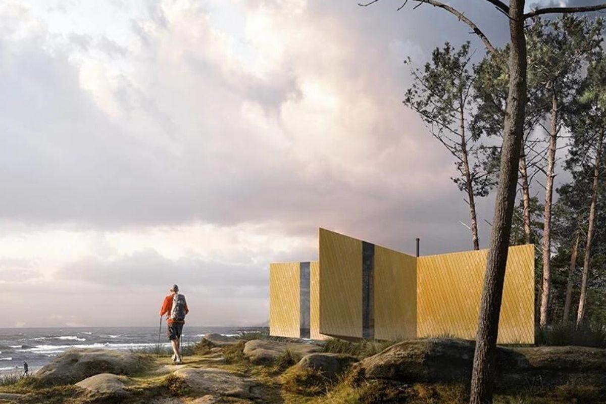 cabana de madeira estrela do mar foto 5