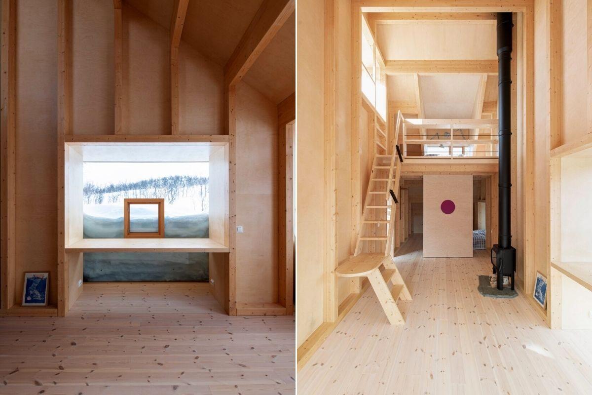 casa de madeira com telhado multifuncional foto 11