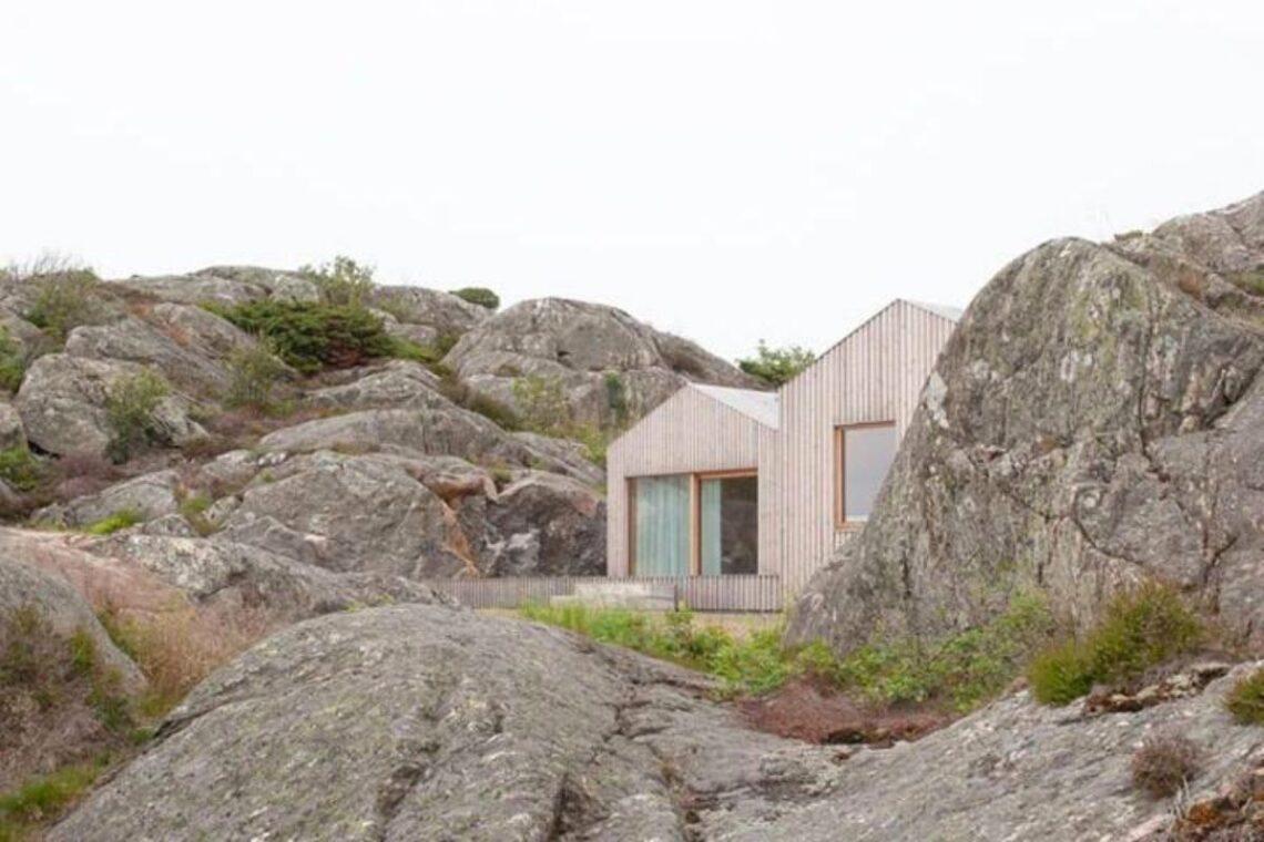 casa de madeira design escandinavo foto 1