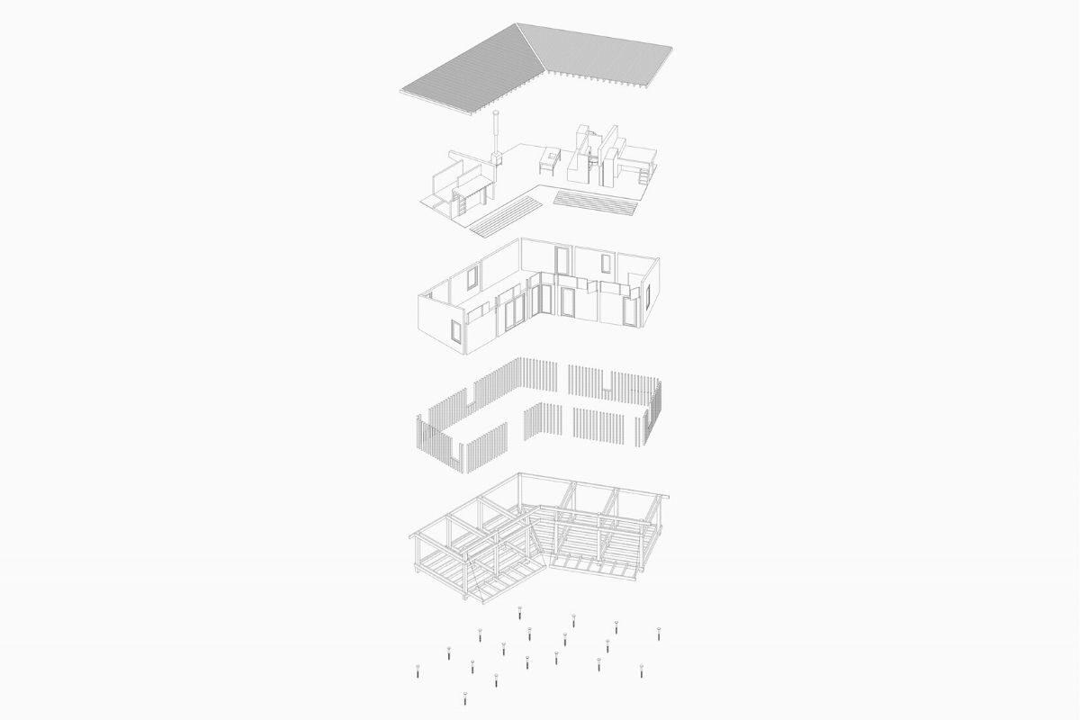 casa de madeira estrutura exposta foto 11
