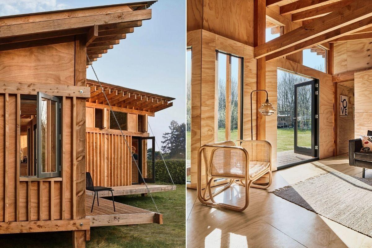 casa de madeira estrutura exposta foto 12