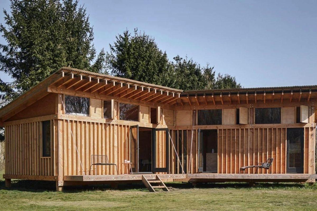 casa de madeira estrutura exposta foto 2