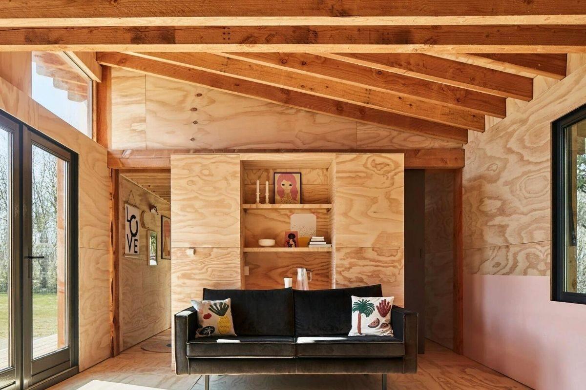 casa de madeira estrutura exposta foto 4