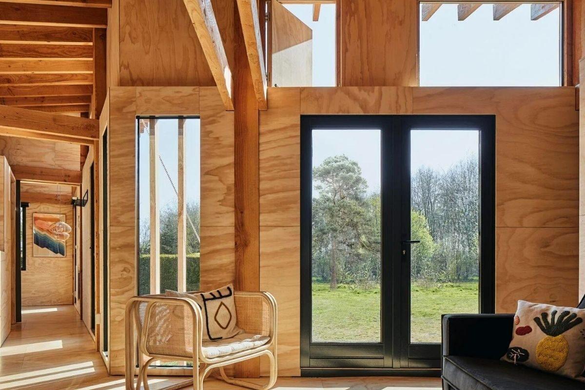 casa de madeira estrutura exposta foto 5