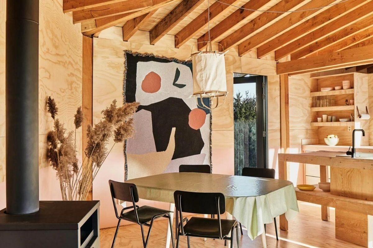 casa de madeira estrutura exposta foto 6