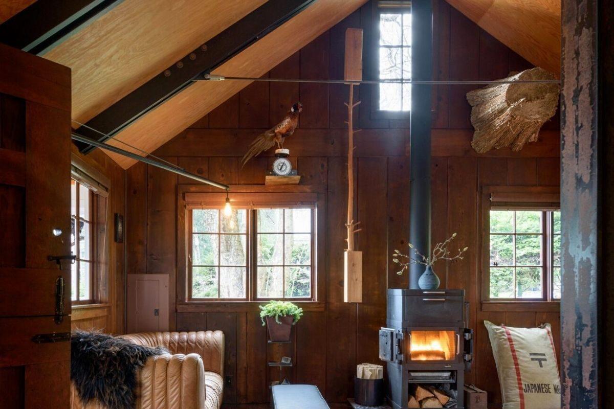 casa de praia de madeira foto 2