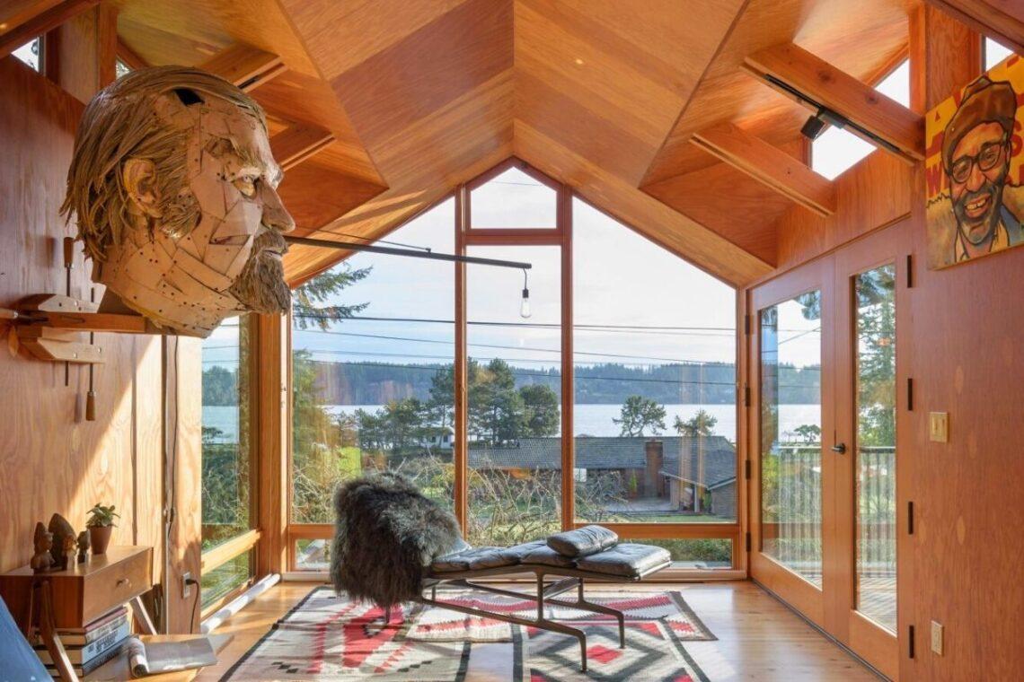 casa de praia de madeira foto 8