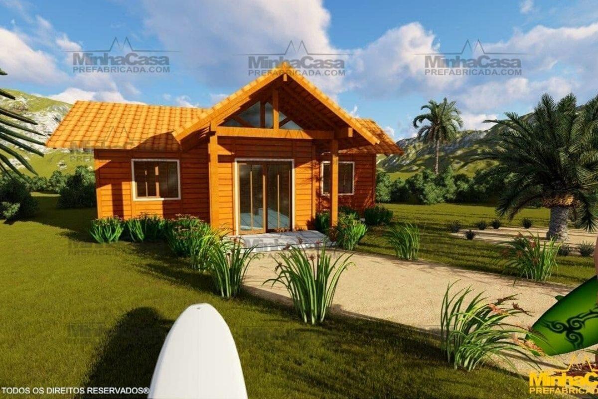 casas de madeira por menos de R$25 mil modelo barra velha II