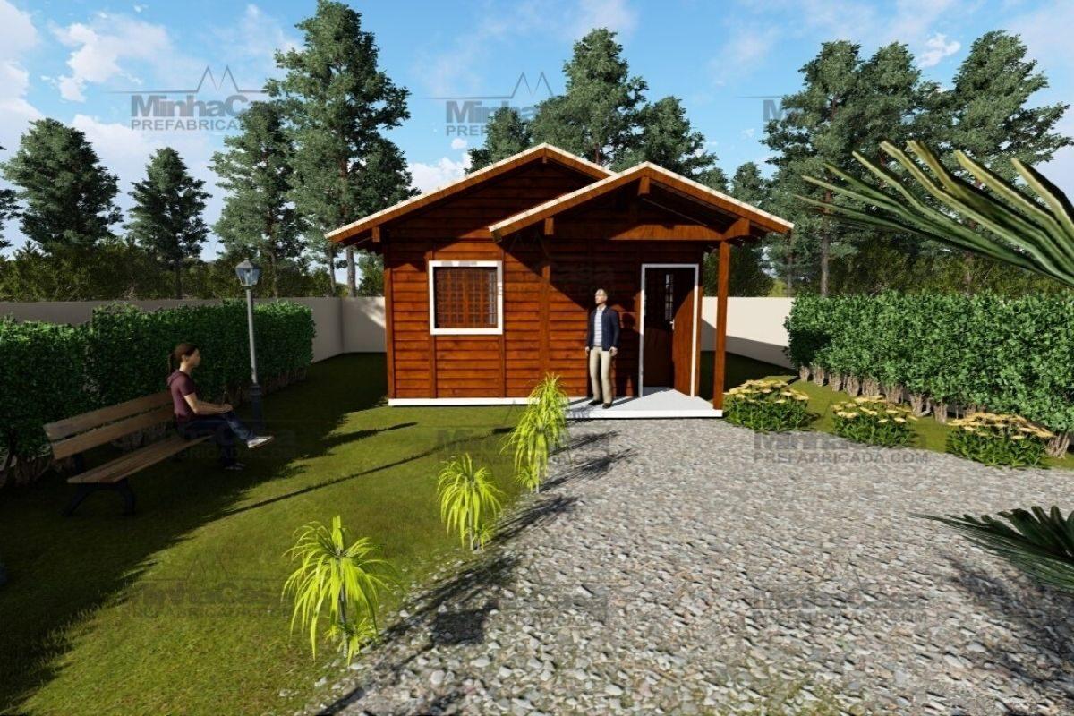 casas de madeira por menos de R$25 mil modelo ilhota