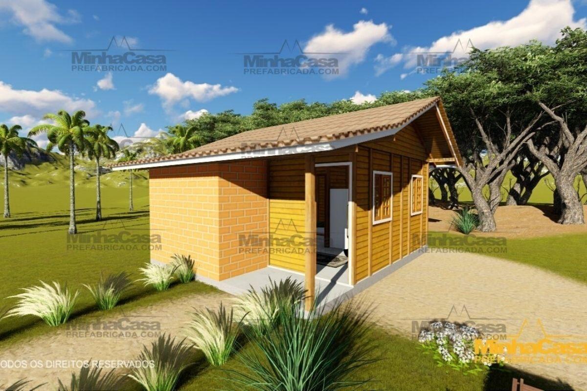 casas de madeira por menos de R$25 mil modelo pop 1.0